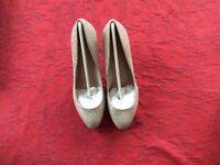 M &S Metallic Stiletto heels