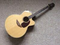 Fairclough Blackbird Electro/ Accoustic Guitar complete with hard case as new