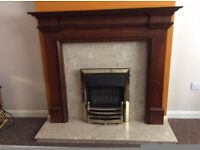 Wooden fireplace
