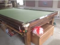 Full size snooker table BCE Clifton very good condition slate bed plus light plus balls and cues