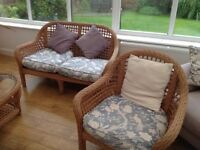 Wicker conservatory set 5 piece