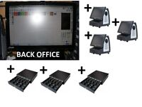 i5 BACK OFFICE & 3 EPOS Tills with NEW Touch Screen with NEW Cash Drawer- Software INCLUDED