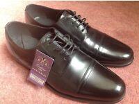 Men's M&S black leather shoes, UK size 8