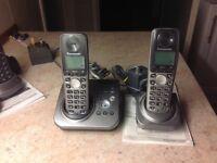 Pair of Panasonic phones, with answer machine.