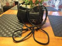 Mimco black leather cross body / shoulder bag