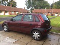 2003 only 67000 Miles Vauxhall Corsa Club mot June no Adivisorys very clean, £450' 07443862073