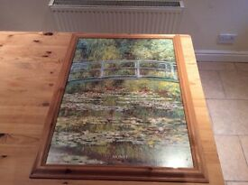 Monet picture in pine frame