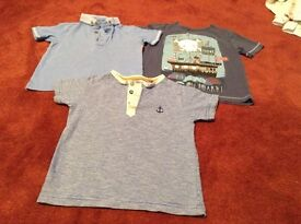 Three boys' t-shirts for 3-4 years