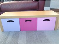 Girls storage unit/boxes