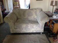 2 seater sofa/cuddle chair