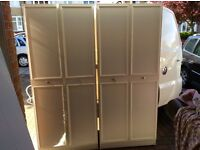 Two white wardrobes, ex cond, could deliver