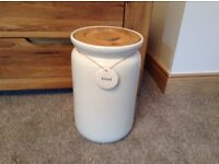 Large cream bread bin
