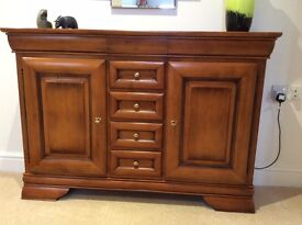 Sideboard and glass fronted cabinet