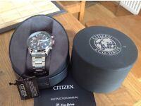 citizen Eco Drive men's watch, brand new, never been worn, ideal xmas present. RRP £145 have receipt