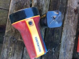 Contractor torch and square battery