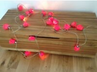 Decorative Red roses string of lights