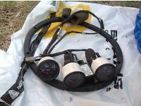 VDO Gauges oil, pressure oil, temp battery voltmeter, Golf MK1, MK2 and Audi 80