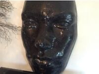 Ex display Stunning focal point art glass face