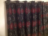 Heavy eyelet curtains 66 x 90