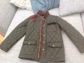 Boys joules green padded coat, size 9-10 years