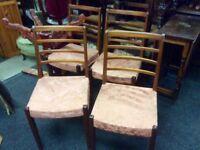 Set of 4 teak retro dining chairs