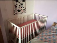 Ikea Baby cot plus mattress almost new