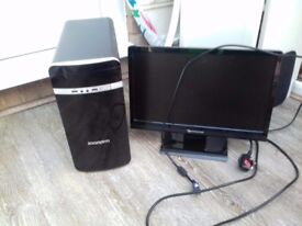 Zoostorm PC With flat screen, keyboard and mouse