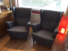 Grey wing back chairs £115 each