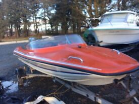 Magnum Shakespeare speedboat including 55hp engine and trailer