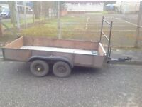 8x4 4 wheeled trailer new alloy plate fitted to floor