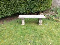 A lovely garden concrete bench £40