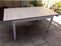 Solid Oak Whitewashed, Extending Dining Table, New / Unsed