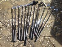12 golf clubs and bag