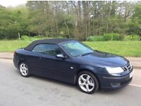 SAAB 93 9-3 TURBO CONVERTIBLE 2005. ONLY 69,500 MILES. FULL SAAB SERVICE HISTORY. ONE PREVIOUS OWNER