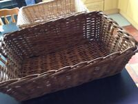 Selection of various sizes & shapes wicker baskets