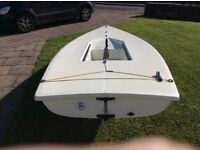 Laser Sailing Dinghy. Complete and ready to sail