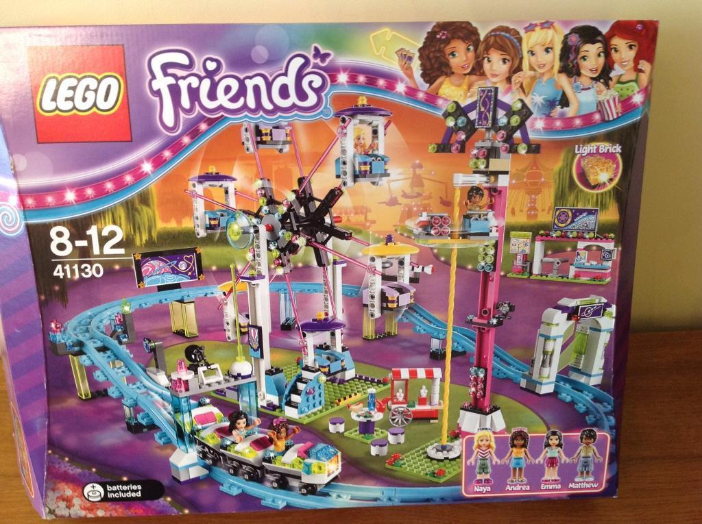 Lego Friends 41130 Amusement Park Roller Coaster With Box And