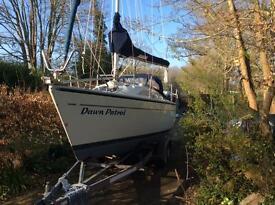 Van der start Dehler 25 trailer sailer yacht boat sailing