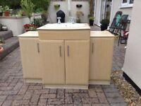 Vanity sink unit and 2 cupboards