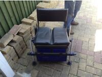 Fishing chair tackle box and rod holder both in good condition