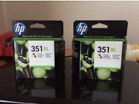 HP 351 XL tri-colour inkjet printer cartridges