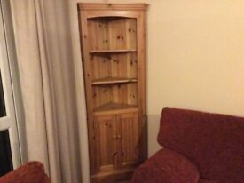 Solid wood pine corner unit.