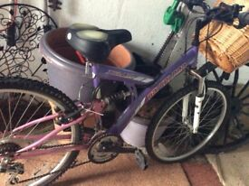 Ladies bike just needs a clean and tyres pumping up basket included buyer collect .