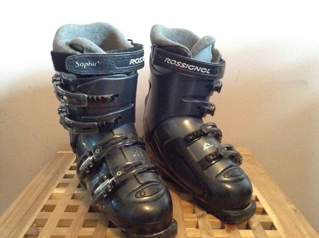 Rossignol Saphir cockpit ski boots and bag Size 5