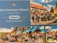Assorted Gibson's 500 pce jigsaw puzzles