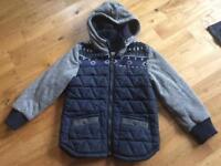 Boys fully lined winter coat age 8-9