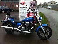 Yamaha XVS950 A Midnight Star 2010 model ,Low mileage ,MOT until July Ready to Cruise £4,000