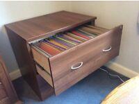Late 2 drawer lockable filing cabinet. Dimensions w 80cm, h 72cm, d 60cm