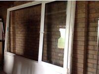 Large White double glazed window frame