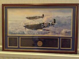 Signature edition 75th anniversary Spitfire print